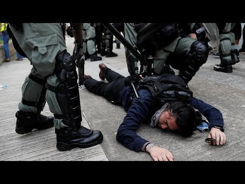 China: Polizei schlägt Demo in Hongkong gewaltsam nied ...