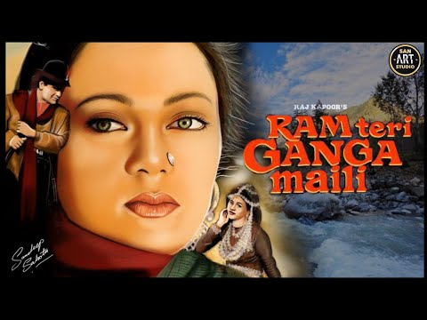 RAM TERI GANGA MAILI 1985   Rajiv Kapoor   Mandakini   Divya Rana   Digital Art in Procreate