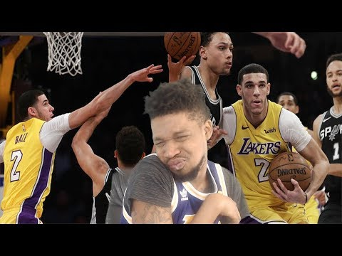 LONZO DROPS OFF HELLA THREE'S! LAKERS vs SPURS HIGHLIGHTS REACTION