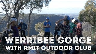 Climbing at Werribee Gorge with RMIT Outdoors Club by Jackson Climbs