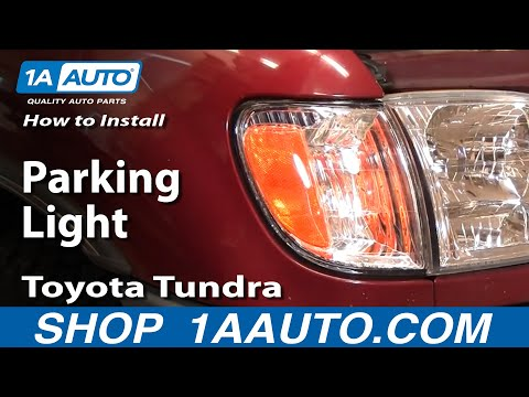 How To Install Replace Toyota Tundra Parking Lights 00-06 1AAuto.com