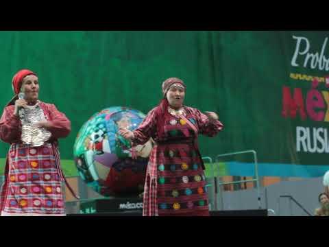 Москва Бурановские бабушки выступают перед началом матча Россия-Хорватия - DomaVideo.Ru