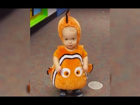 Adorable Baby Dressed as Clown Fish