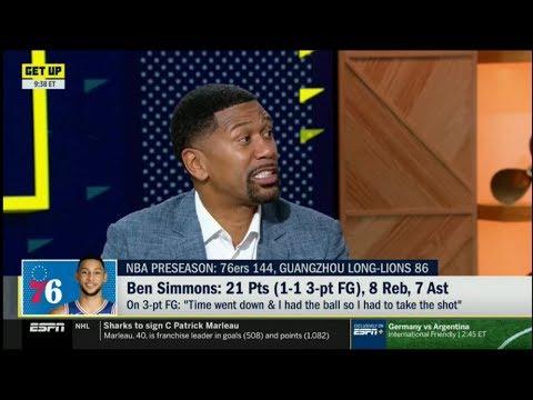 ESPN GET UP - Jalen Rose ANALYZE Ben Simmons: 21 Pts (1-1 3-pt FG), 8 Reb, 7 Ast
