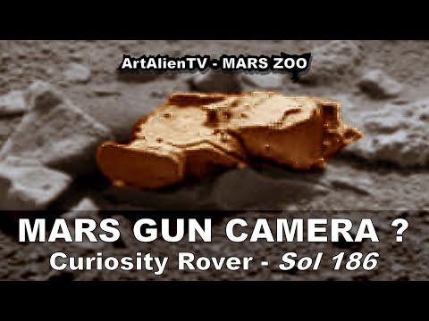 MARS ALIEN GUN CAMERA? & UFO Wreckage? Smoking Gun Anomaly. ArtAlienTV – MARS ZOO 1080p