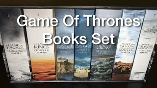 This Game Of Thrones Books Set comes with new covers. Really beautiful books with a map and a cardboard bookcase. It costs ...