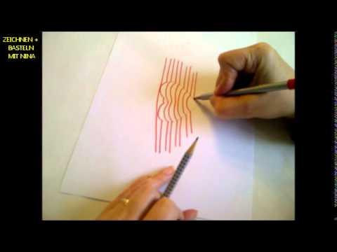 Zeichnen lernen für Anfänger .Wie man ein 3D Herz zum Valentinstag malt.