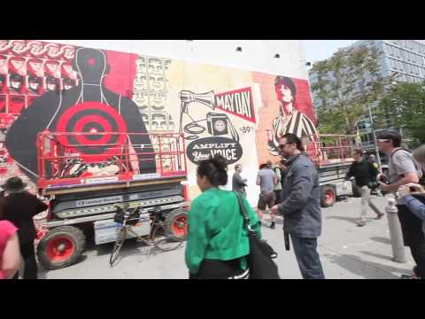 0 Shepard Fairey   New Mural On Houston Street + Bowery | Event Recap