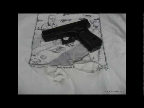 Shooting a Glock 19 inside of a tshirt