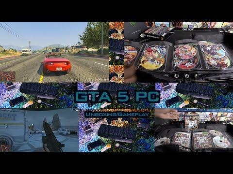 GTA 5 PC Unboxing/Gameplay/Settings