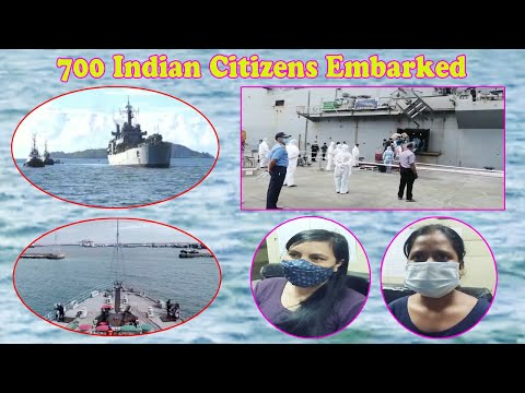 INS Jalashwa Arrives 700 Indian Citizens Embarked Maldives,Samudra SetU,Vizagvision....