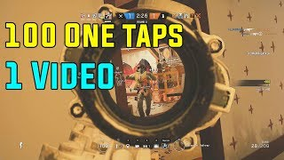 100  One Taps in 1 Video to Music - Rainbow Six Siege