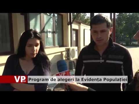 Program de alegeri la Evidența Populației