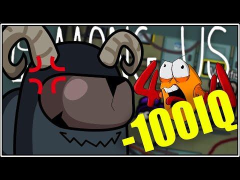 AMONG US ΑΛΛΑ ME -100IQ!!! 404 & Friends