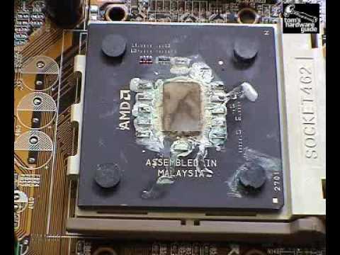 測試無風扇的CPU馬上就瞬間燒毀了!