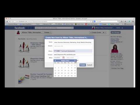 how to i create an event on facebook