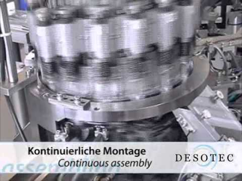 Desotec assembly machine range