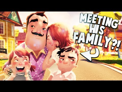FINALLY MEETING THE NEIGHBOR'S FAMILY! | Hello Neighbor Gameplay (видео)