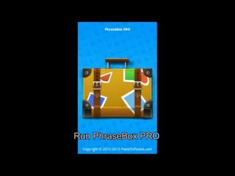 Video of Phrasebook PRO Demo