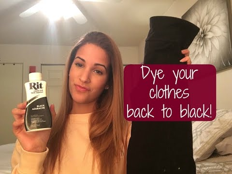 How To: Dye Clothes Back To Black! | RIT Liquid Dye Tutorial