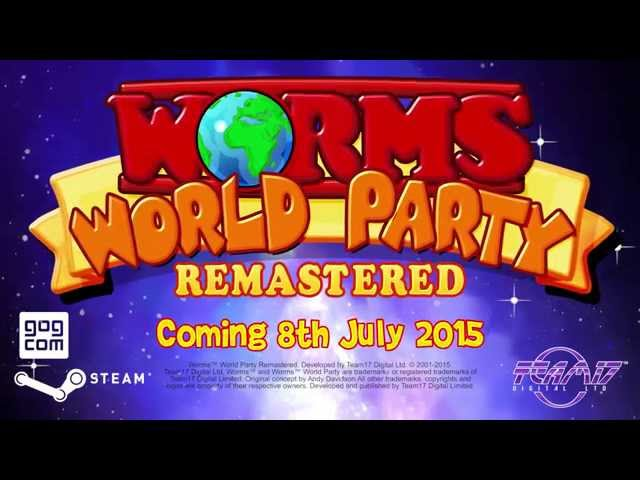 Видео к игре Worms World Party Remastered
