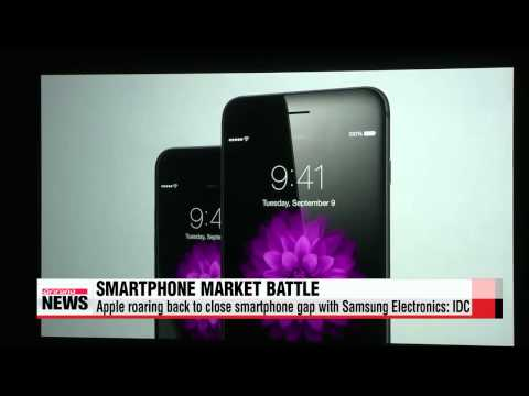 Apple roaring back to close smartphone gap with Samsung Electronics: IDC   세계 스마