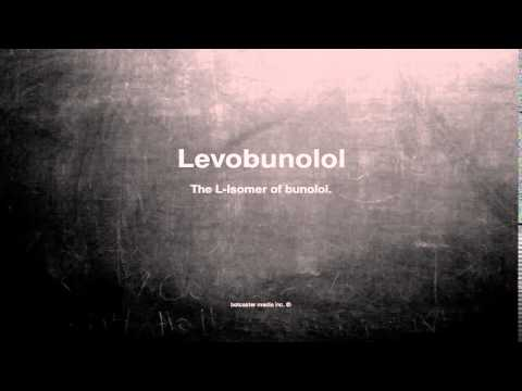 Medical vocabulary: What does Levobunolol mean
