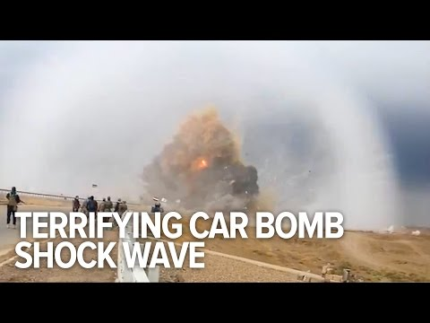 Terrifying Car Bomb Shock Wave Caught On Video In Iraq