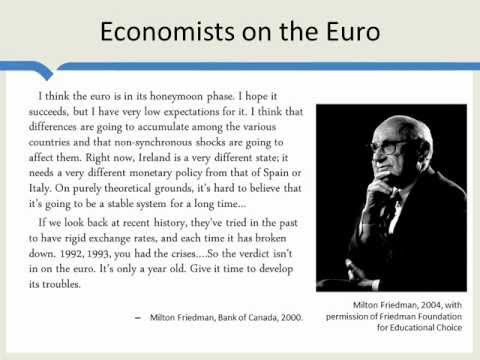 Euro (Currency) - How does basic theory apply to the euro? http://mruniversity.com/courses/eurozone-crisis/optimum-currency-areas-and-euro.