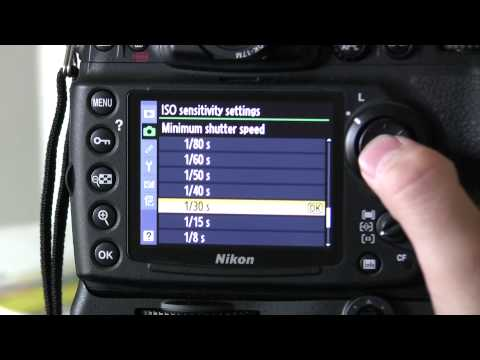 How to set up Auto ISO on the Nikon D700 DSLR Tutorial