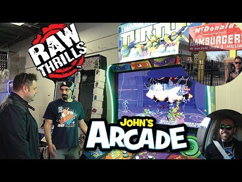 Raw Thrills Teenage Mutant Ninja Turtles TMNT New Arcade 2017 Gameplay Injustice Xgames Snowboarder