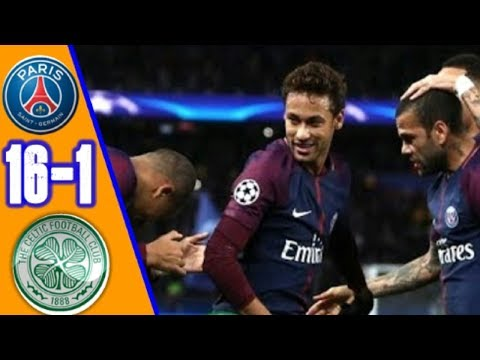 PSG vs Celtic 16 -1   All Goals & Extended Highlights RÉSUMÉ & GOLES