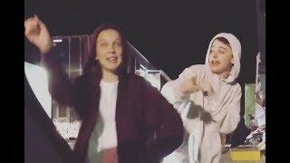 Millie Bobby Brown & Noah Schnapp do In My Feelings Challenge