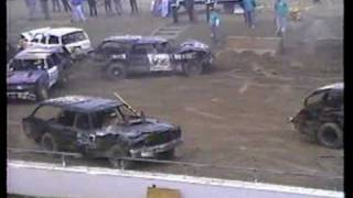 Canfield, Ohio fall invitational demo derby 1994 wagon heat2