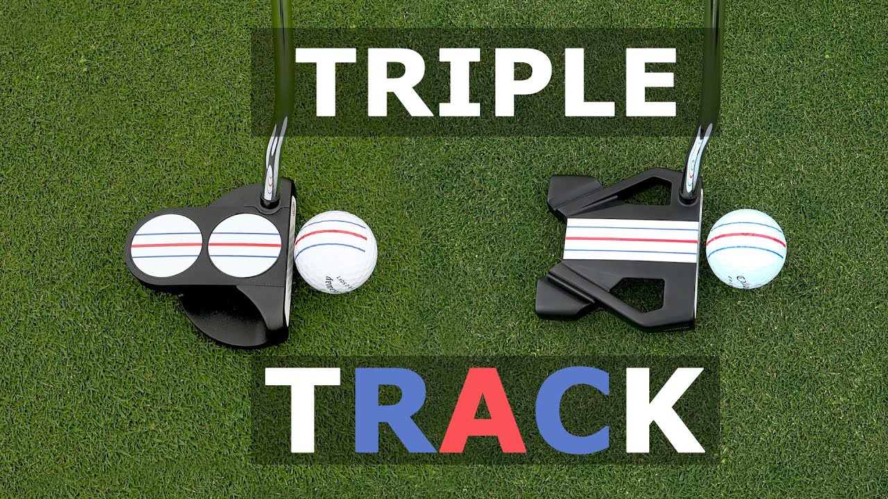 The triple track putter will change your putting style and give 27% more accuracy
