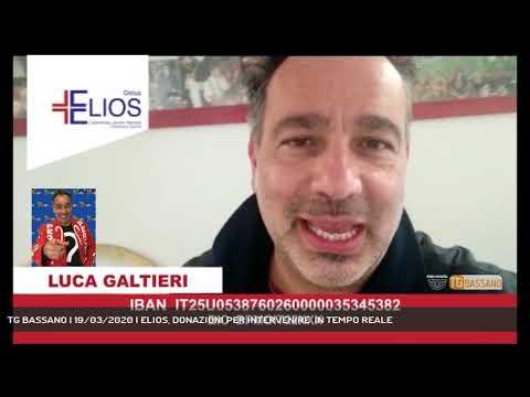 TG BASSANO | 19/03/2020 | ELIOS, DONAZIONI PER INTERVENIRE  IN TEMPO REALE