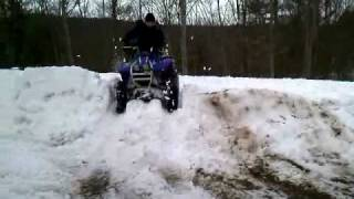 7. Yamaha Wolverine 350 in the snow