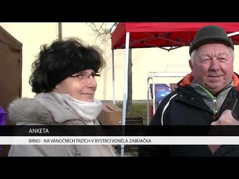 TV Brno 1: 11.12.2017 Na vánočních trzích v Bystrci voněla zabíjačka