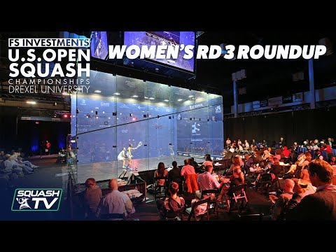 Squash: Women's Rd 3 Roundup - US Open 2018