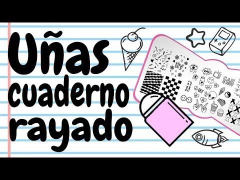 Videos de uñas - Uñas CUADERNO RAYADO · Manicura Divertida