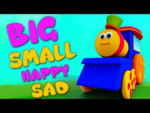 Bob kereta api | lagu yang berlawanan | lawan Kata | Bob the Train | 3D Kids Rhymes | Opposites Song