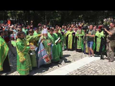 Памятник святым Петру иФевронии открыли вцентре Симферополя