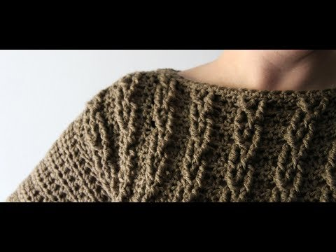 Crochet Cable Sweater by YarnHookNeedles | crochet cables | crochet sweater