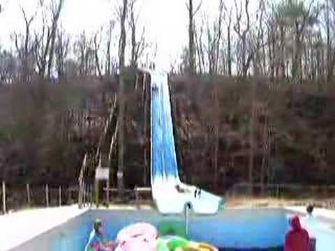 Water slide accident on closed ride