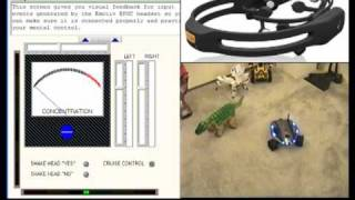 Mind Controlled Spy Robot - Emotiv EEG headset pilots Rovio using Skype