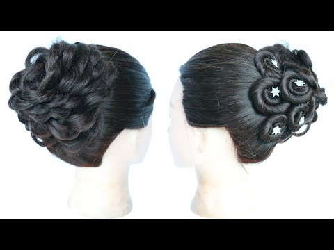 Curly hairstyles - juda hairstyle for special occasion  wedding hairstyles  wedding guest hairstyles  hairstyle