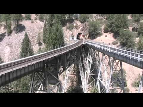 railroad - One of great railroad routes in the world. This film was done in 2009, one of the last busy years for this route. That's because the Union Pacific Railroad m...