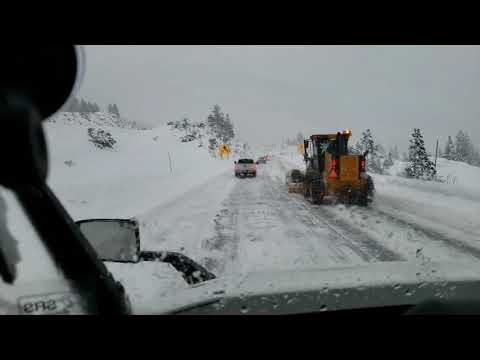 Driving through donner pass with Icey road condition