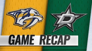 Josi scores twice in the 3rd as Predators beat Stars by NHL