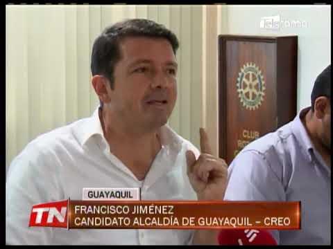 Candidato Francisco Jiménez presentó propuestas para alcaldía de Guayaquil